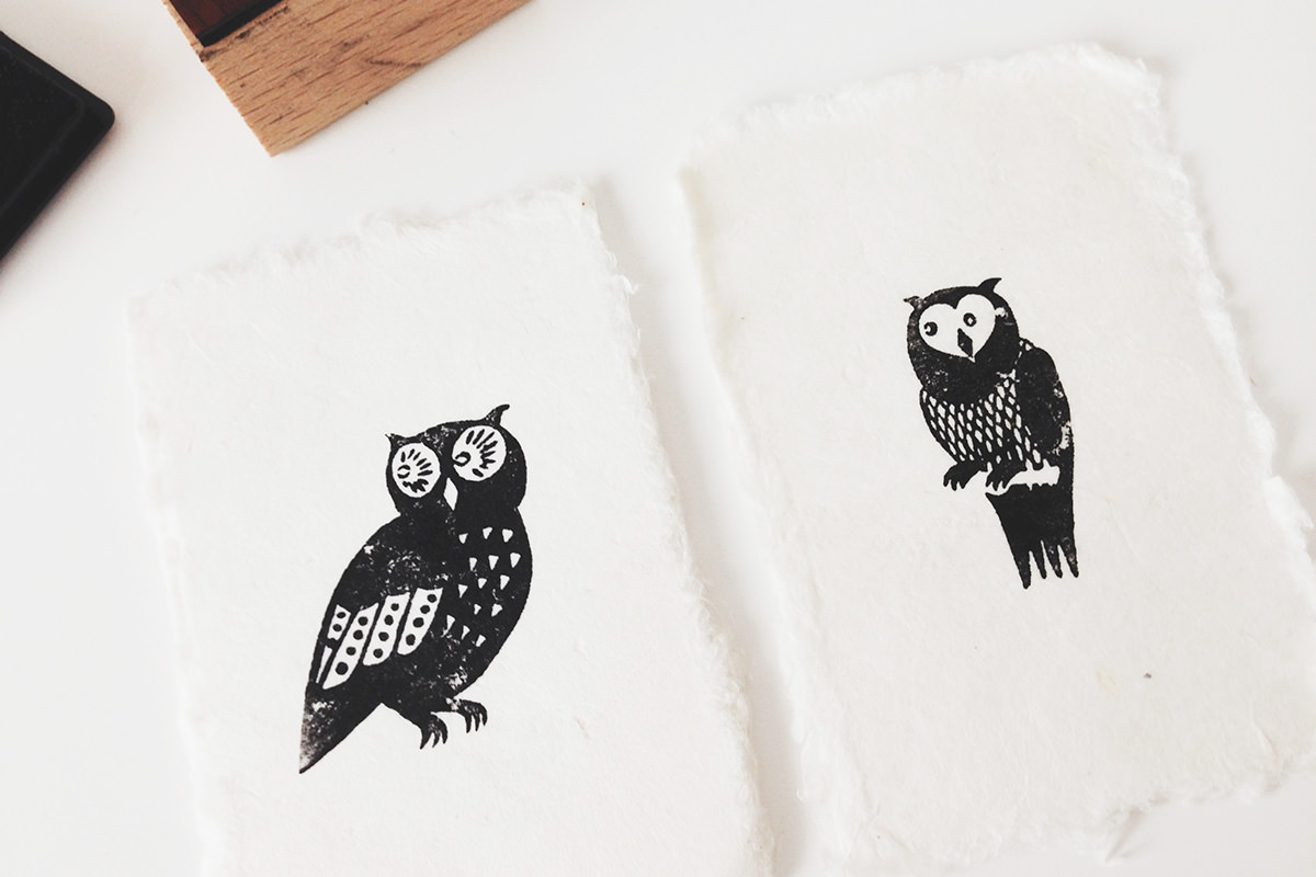 my new owl stamps haustiger. Black Bedroom Furniture Sets. Home Design Ideas